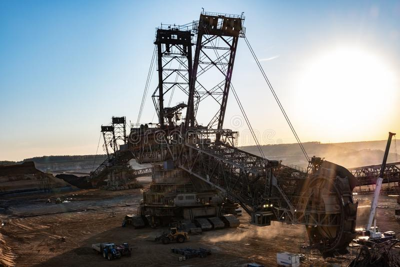Coal mining excavator royalty free stock photos