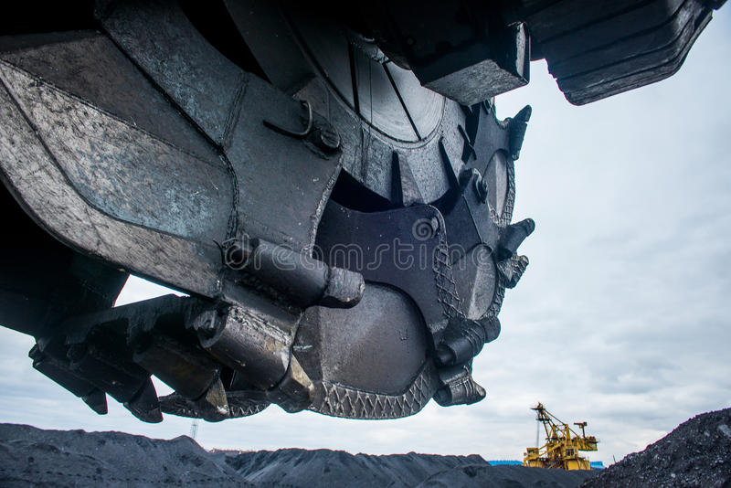 Coal mining industry royalty free stock image