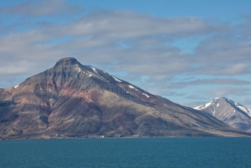 Coal Mining in Isfjorden, Spitsbergen royalty free stock photos
