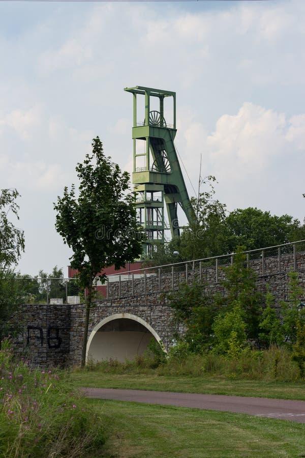 Coal mining tower royalty free stock photos