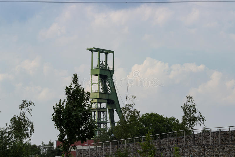 Coal mining tower stock images
