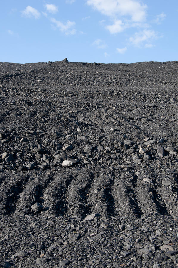 Coal mining waste pile stock photos