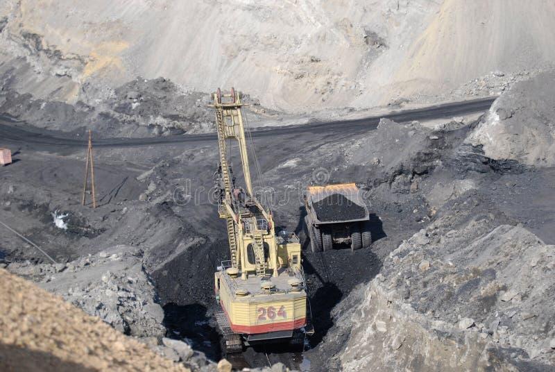 Coal output royalty free stock image