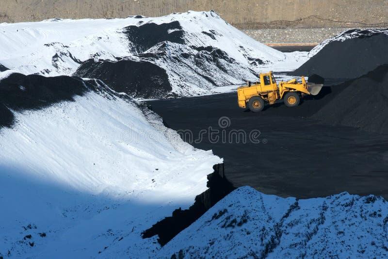 Coal-pit зимы стоковые изображения