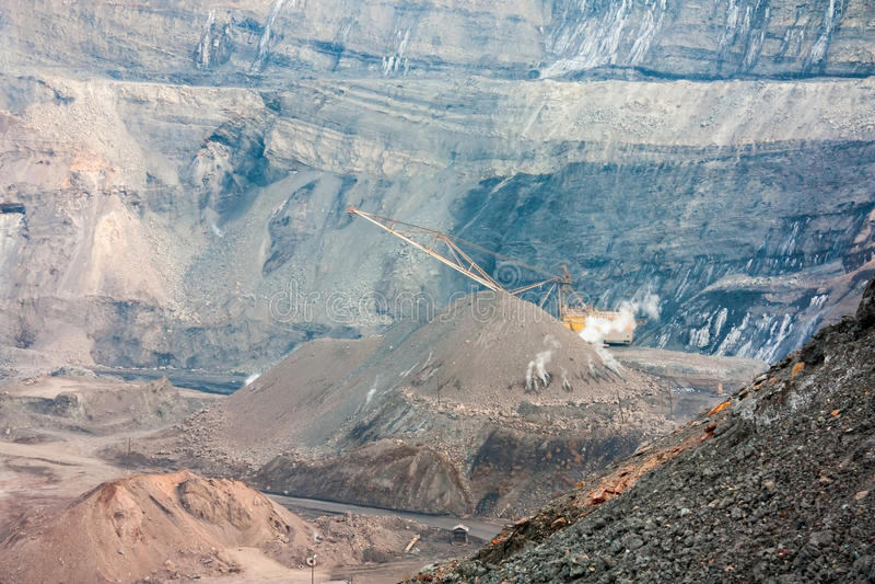 Coal quarry royalty free stock image
