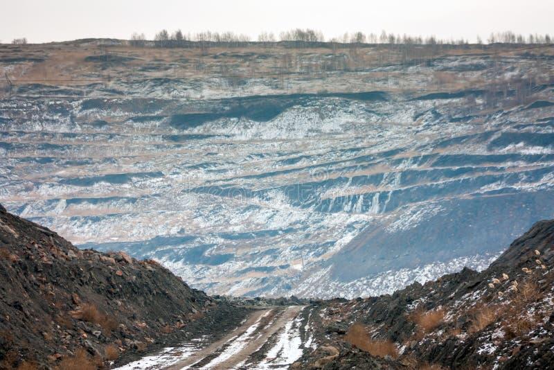 Coal quarry stock image