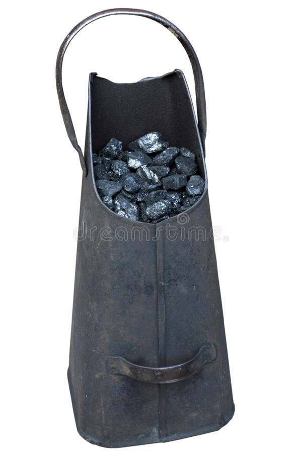 Coal scuttle stock photo