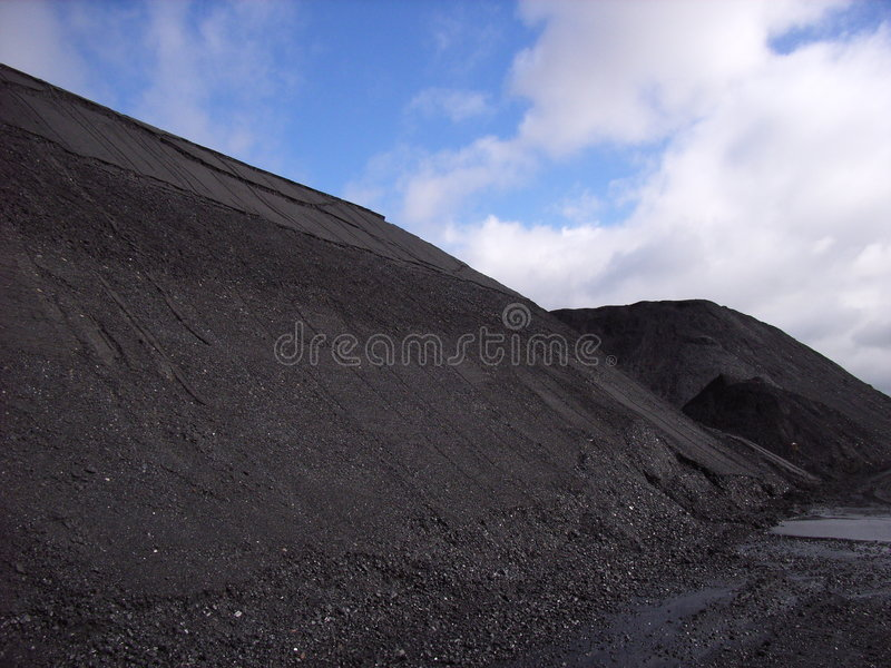 Coal stockpile royalty free stock photo