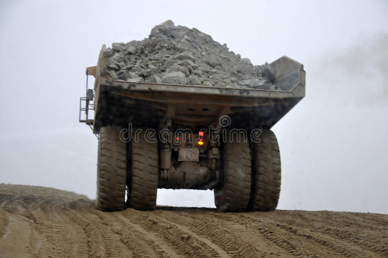 Coal truck royalty free stock image