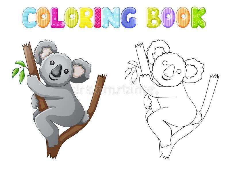 Coala da coloração ilustração royalty free
