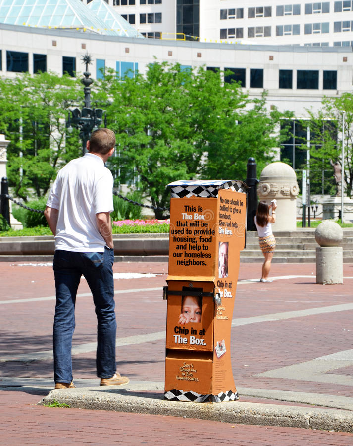 Download Coalition For The Homeless Fundraising Box, Indianapolis And Peo Editorial Photography - Image: 41880597