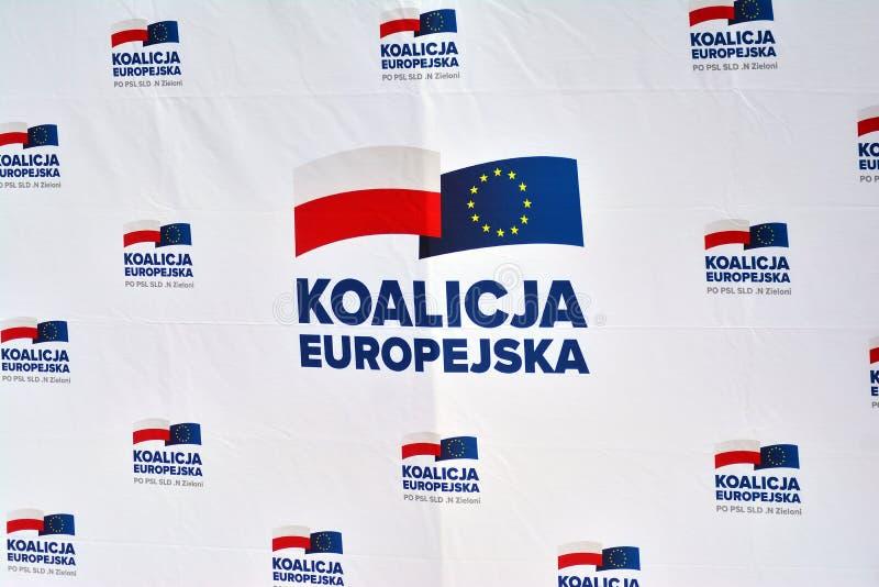Coalizione europea del segno fotografia stock