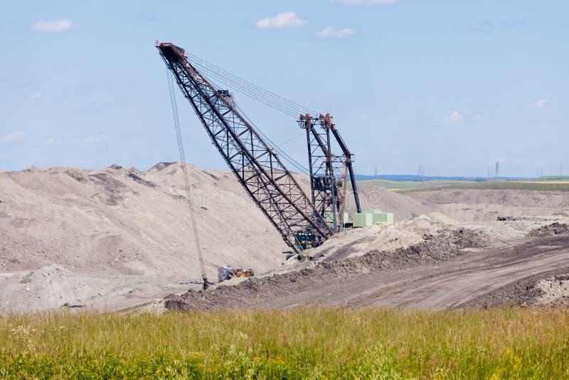 Coalmine ekskawatoru moonscape maszynowy tailing zdjęcia stock