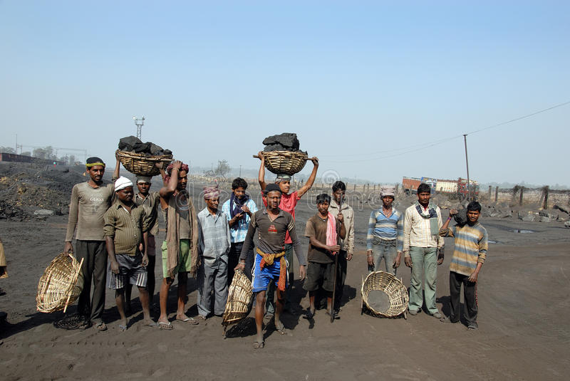 Download Coalminers In India Editorial Stock Image - Image: 21589564