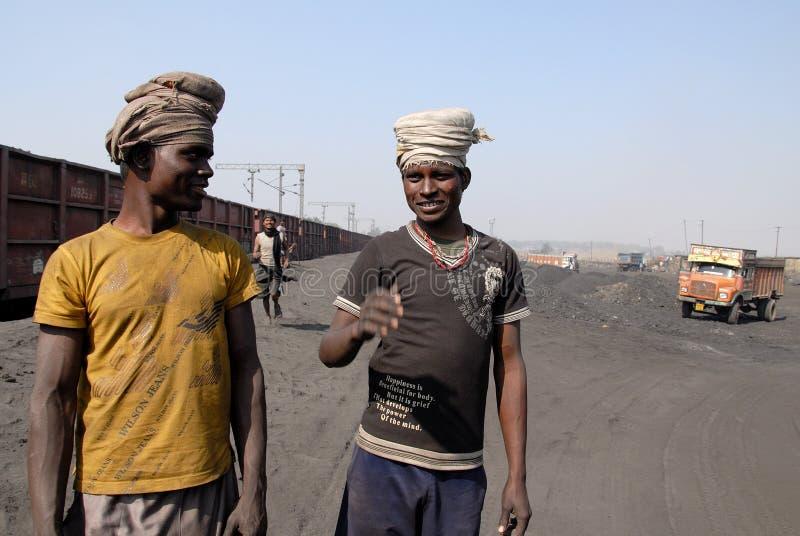 Coalminers in India. October 12,2011 Jharia,Jharkhand,India,Asia-Coal mines worker at Jhariya coalfield stock photos