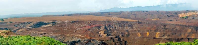 Coalmining för öppen grop, Sangatta, Indonesien arkivbild