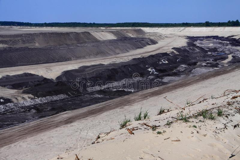 Coalmining i Cottbus royaltyfri bild