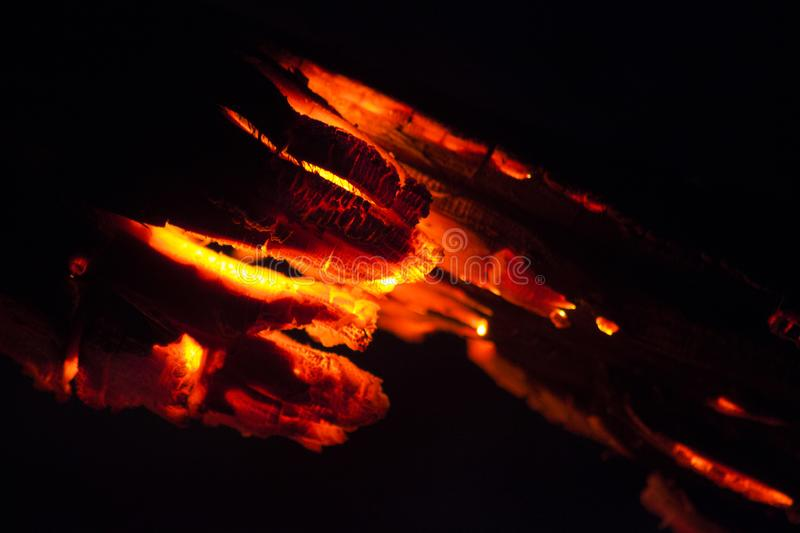 Coals from the fire royalty free stock photo