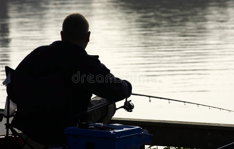 Coarse fisherman stock photos