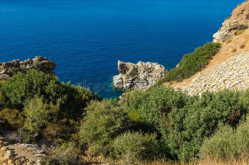 Coast between Agios Georgios und Agios Pavlos in the south of Crete royalty free stock photography