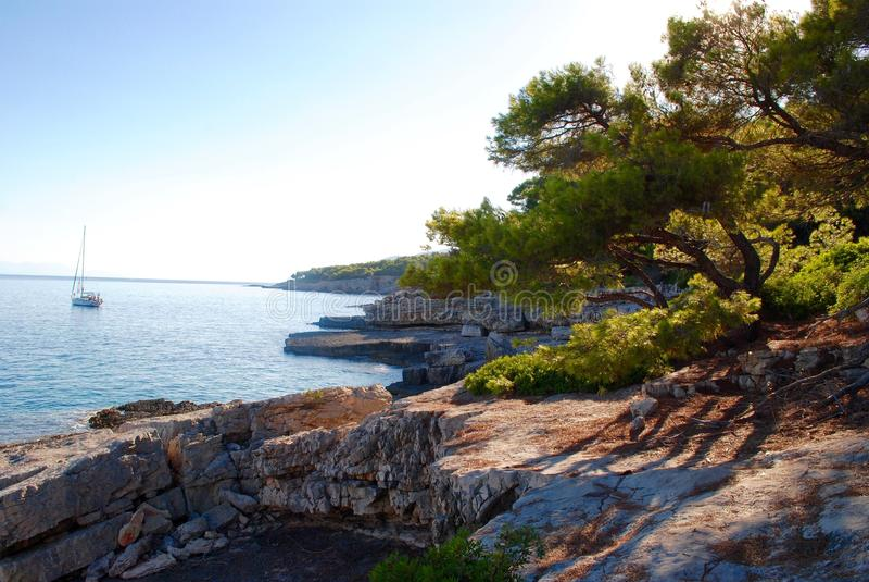 Coast of Alonissos, Greek Island royalty free stock photography