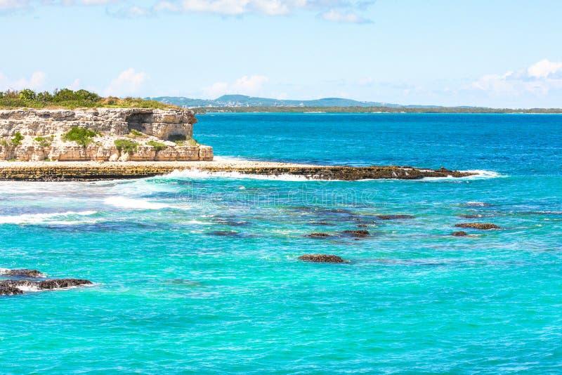 Coast of Antigua royalty free stock photos