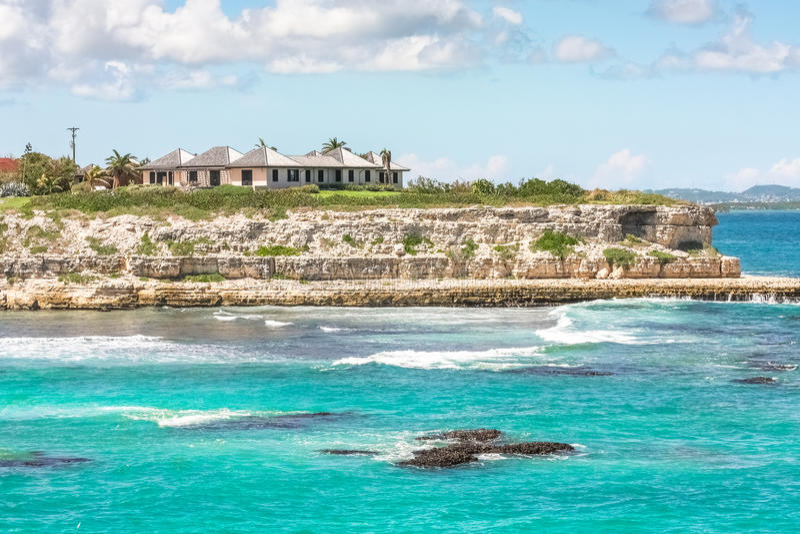 Coast of Antigua royalty free stock photo