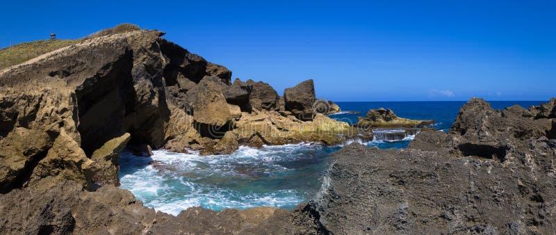 Coast in Arecibo Puerto Rico. Poza del Obispo in the coast of Arecibo, Puerto Rico stock photography
