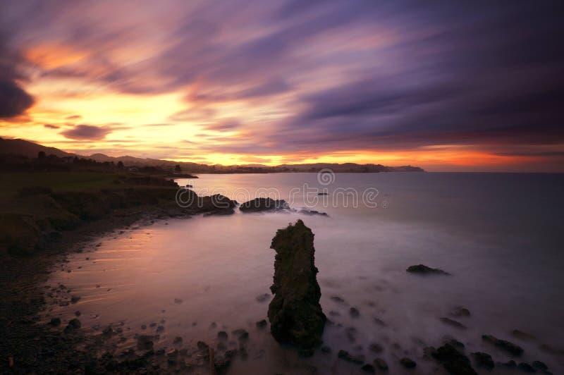 Download Coast of Asturias at dawn stock image. Image of atmosphere - 23386333
