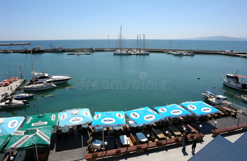 The Coast of Balchik. The yachts in the port.Southern Dobruja. Bulgaria stock photos