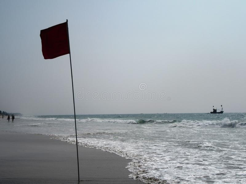 The coast and beaches of Goa. In South India royalty free stock images