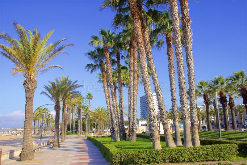 Coast and Beaches of Salou, Spain. Beautiful coastal line and beaches of Salou, Catalunya, Spain royalty free stock photos