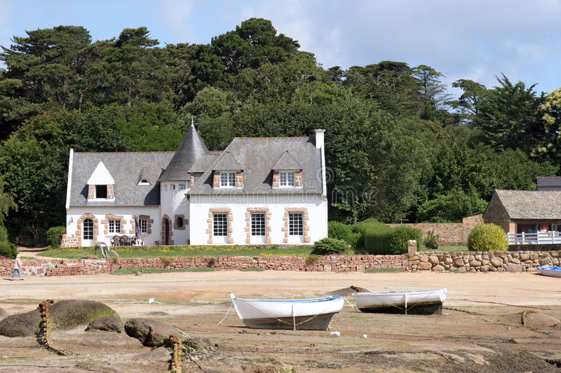 Download Coast of Brittany stock photo. Image of sand, house, beach - 25420576