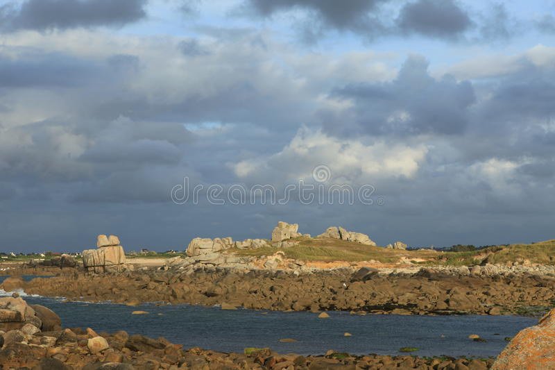 Download Coast of Brittany stock image. Image of flood, awake - 33935709