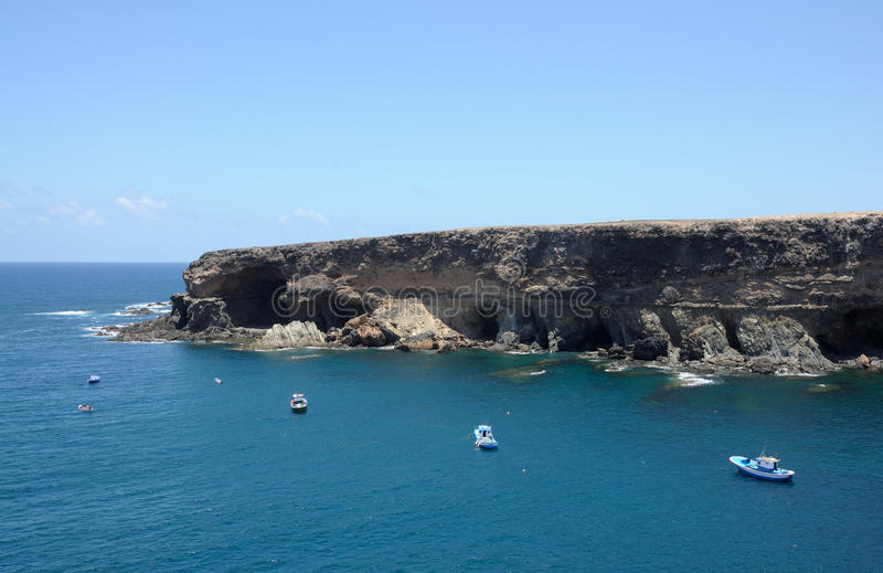 Coast of Canary Island Fuerteventura royalty free stock image