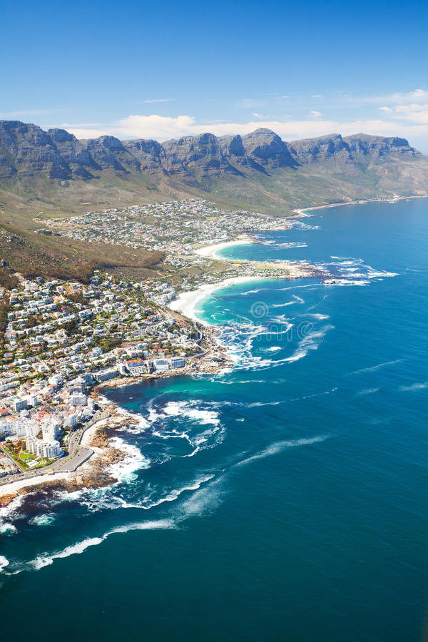 Download Coast of Cape Town stock photo. Image of building, mountain - 22876226