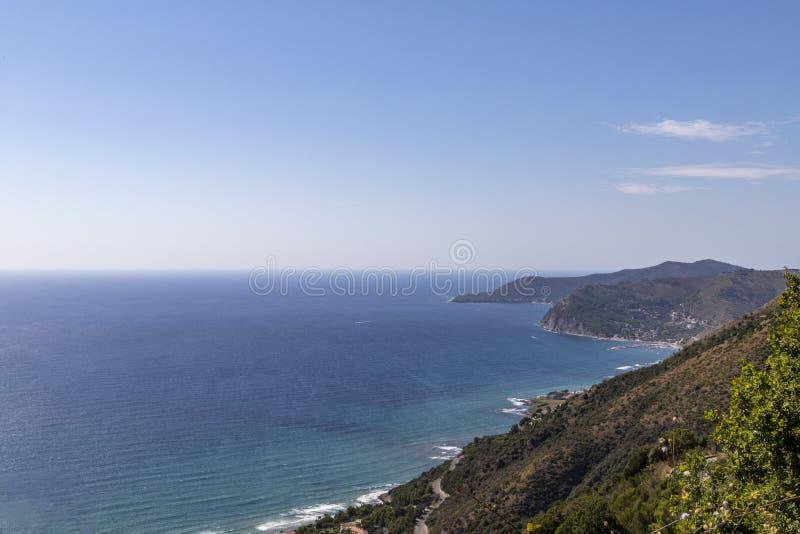 Coast of cilento in salerno italy. Landscape of cilento salerno castellabate acciaroli royalty free stock image