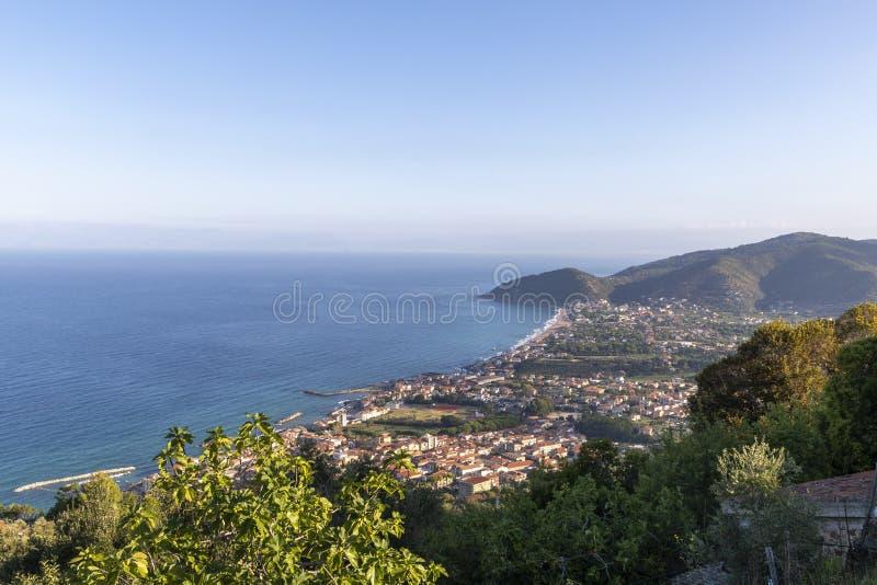 Coast of cilento in salerno italy. Landscape of cilento salerno castellabate acciaroli stock image