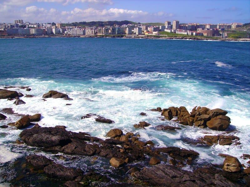 Coast of A Coruña, Spain. Coast of A Coruña, Galicia, Spain stock photography