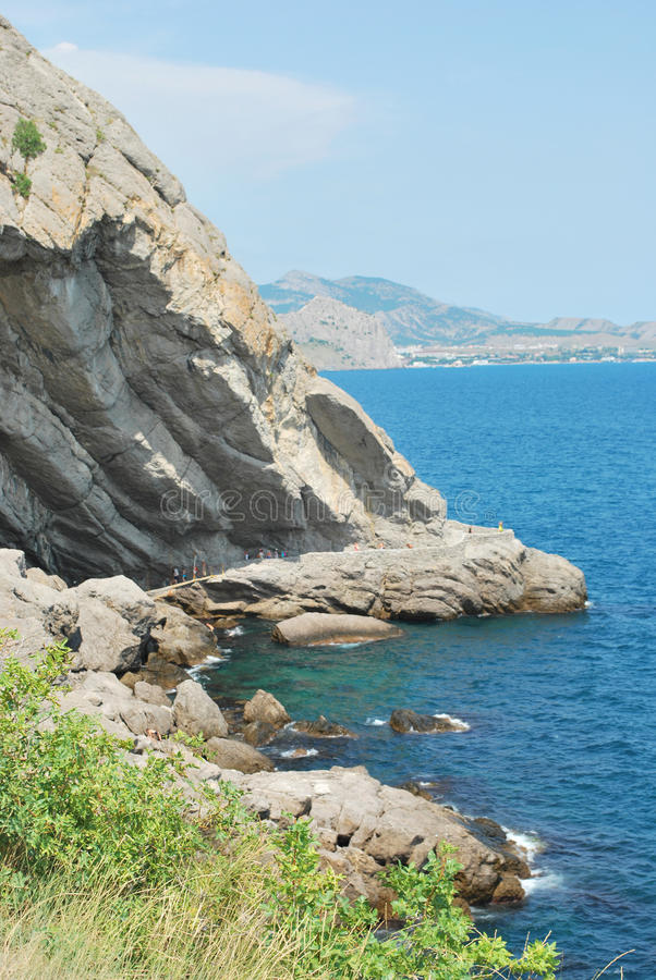 Download The coast of Crimea stock image. Image of above, shore - 16091985