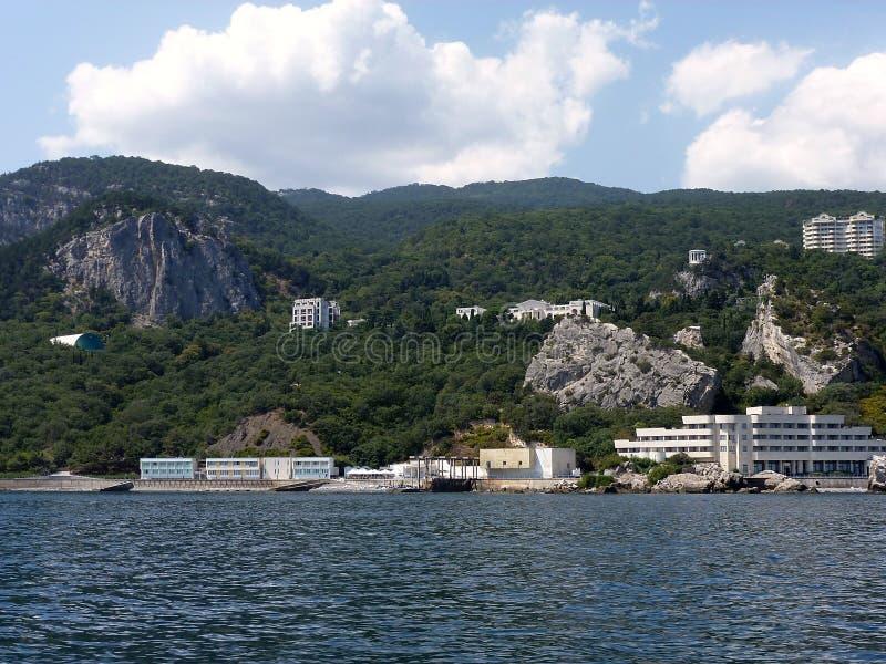 Coast of Crimea near Yalta stock images