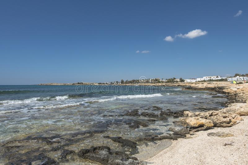 Coast of Cyprus island royalty free stock photography