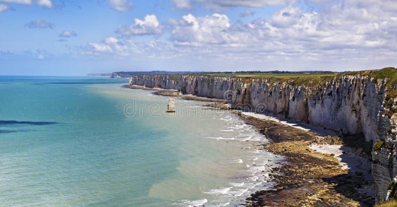 coast den normandy upperen royaltyfria bilder