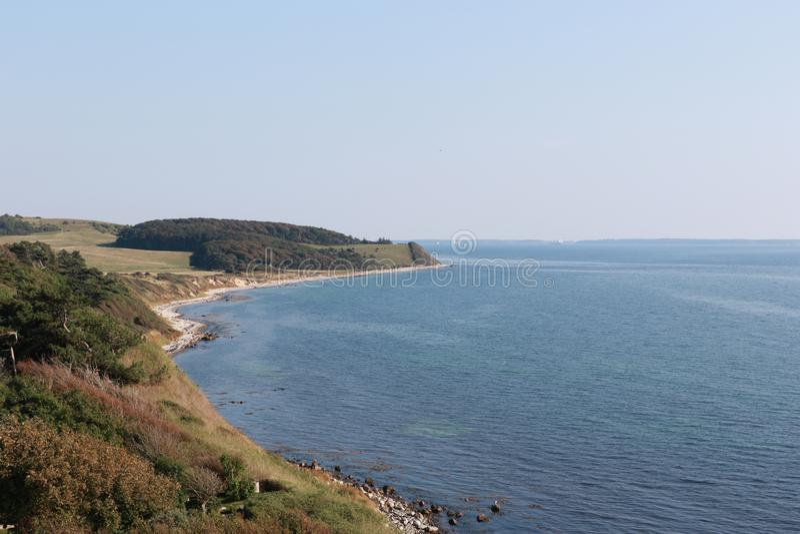 Coast of Denmark, Europe. Coast of Denmark Røsnæs near Kalundborg city, Scandinavia, Europe royalty free stock photography