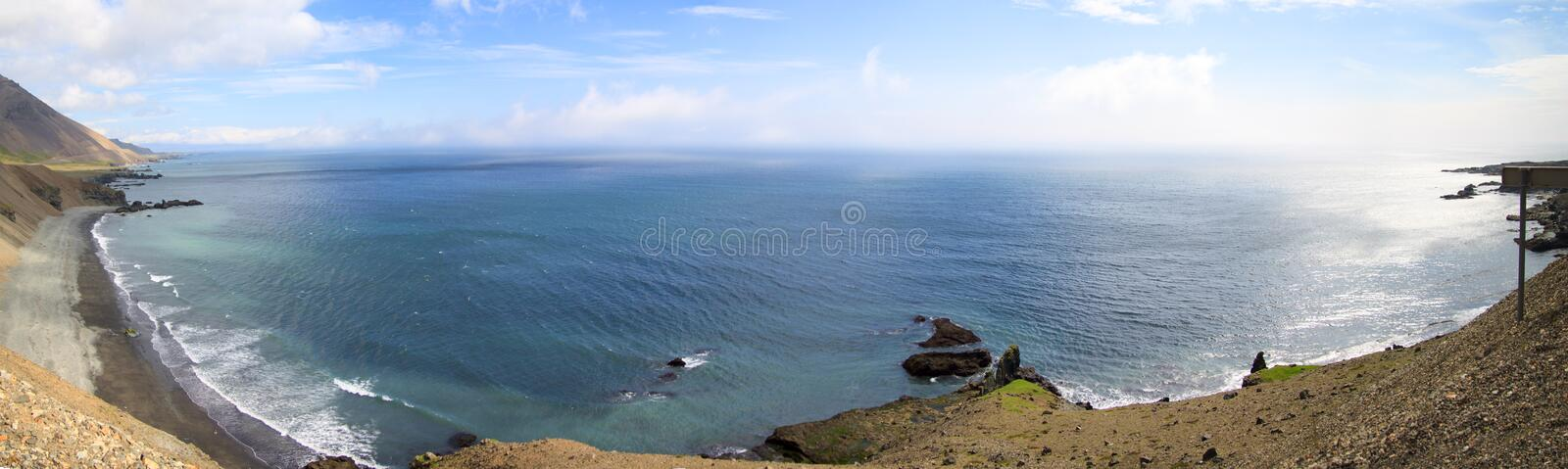 Coast in the East Fjords Iceland. stock photos
