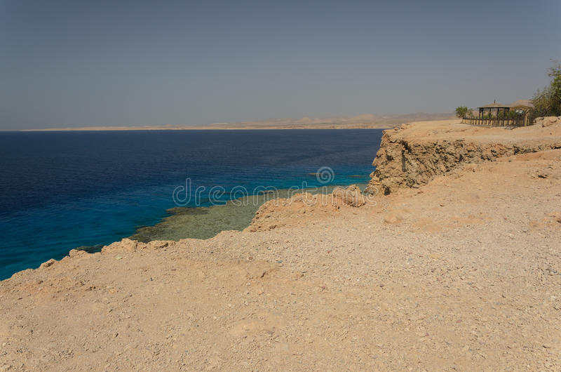Coast in Egypt. Red Sea royalty free stock images