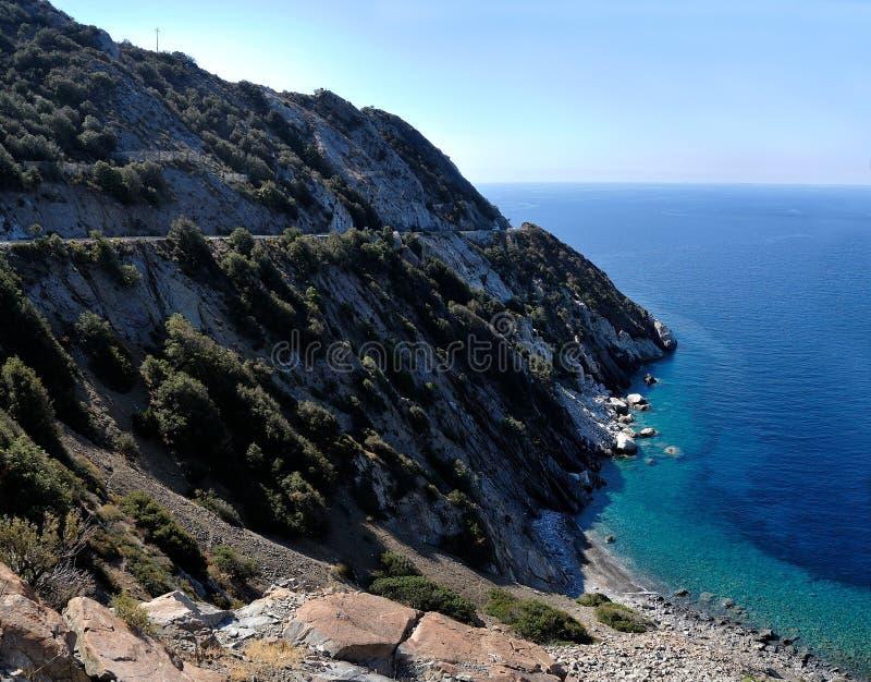 Coast at Elba Island, Tuscany, Italy royalty free stock image