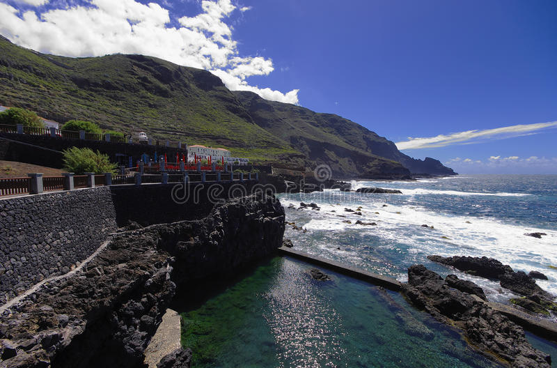 Coast of Fajala. La Palma stock photography
