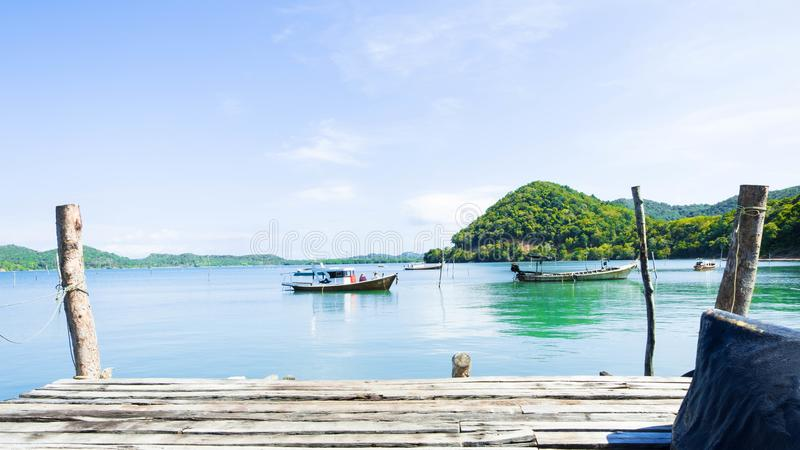 Coast in fisherman village.koh yao yai royalty free stock image