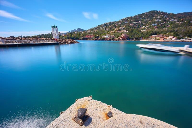 Coast of French Riviera stock photo